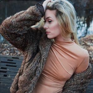 LF Rumor Boutique Suede Bodysuit
